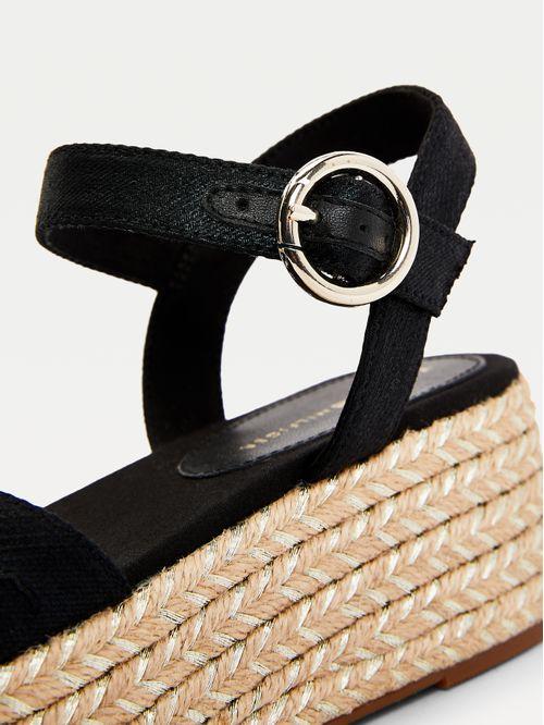 Sandalias de plataforma con logo