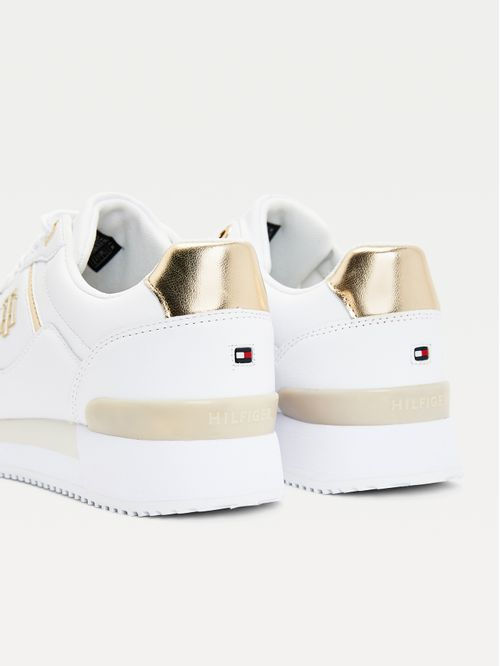 Zapatillas deportivas de piel con monograma
