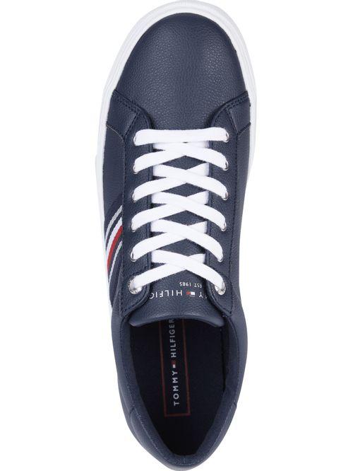 Zapatillas de pu con cinta multicolor lateral