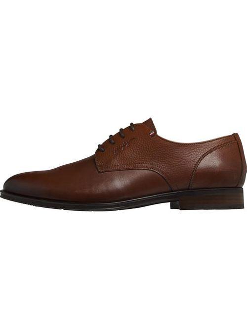Zapatos de piel con logo en relieve