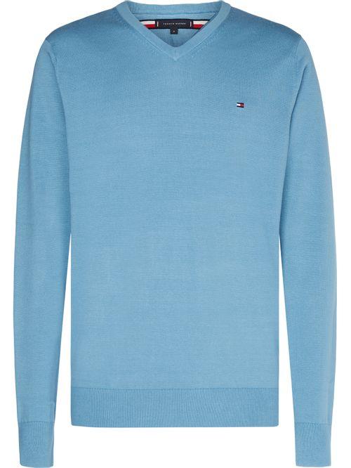Jersey de algodón con cuello V