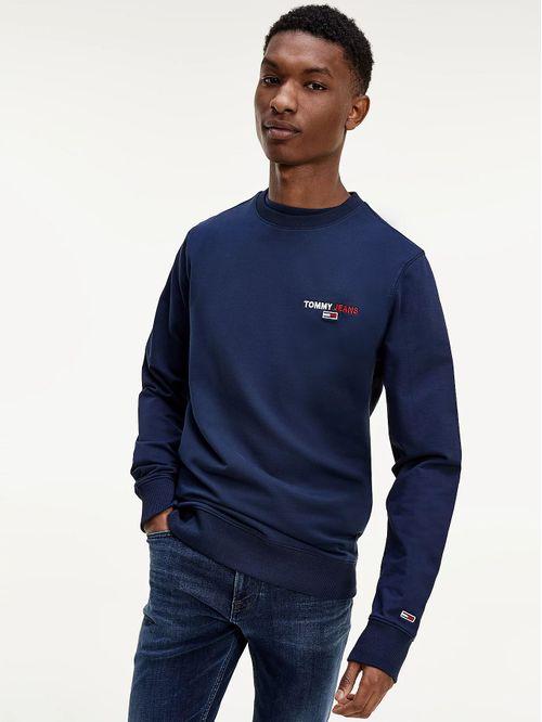 Jersey de algodón orgánico con cuello redondo