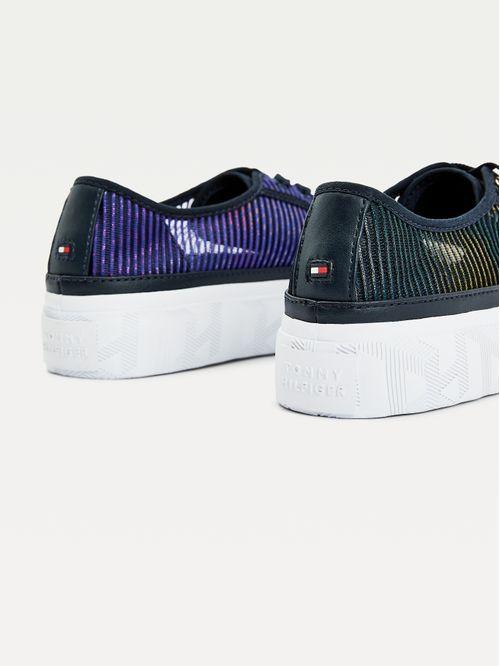 Zapatillas transparentes con purpurina
