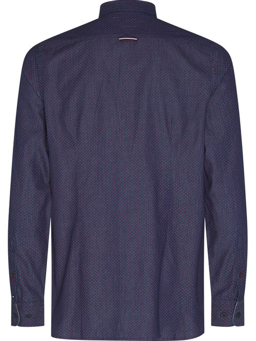 Camisa de cuadros azul índigo