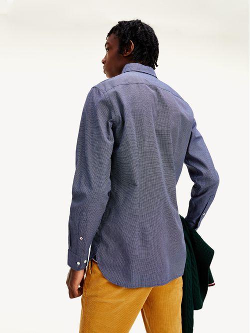 Camisa texturizada con corte slim
