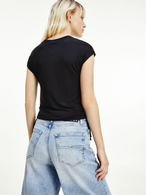 Camiseta con lazos en laterales