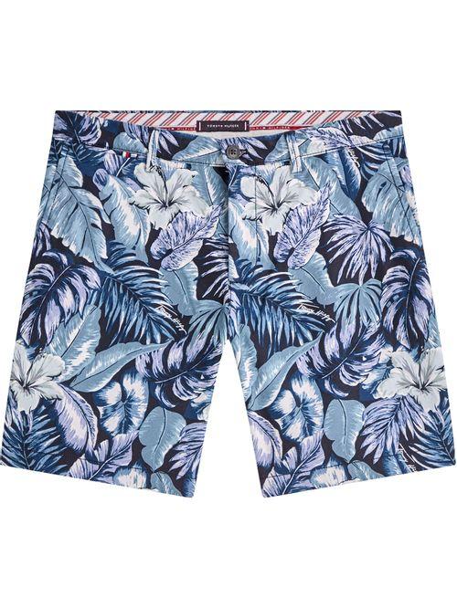 Pantalón corto Brooklyn de algodón con estampado hawaiano